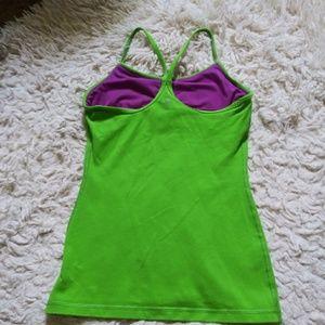 Ivivva Lime Green Power Y Tank girls 12
